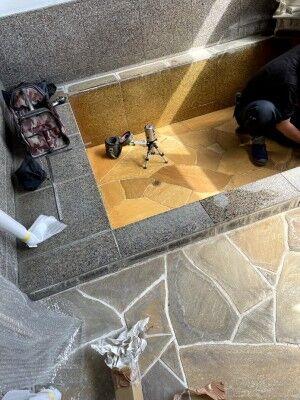 #貸切温泉露天風呂の工事が終了しました〜