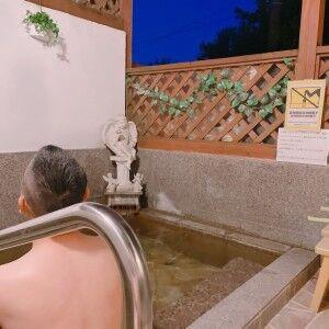 #リニューアルした露天風呂に入ってみました〜〜