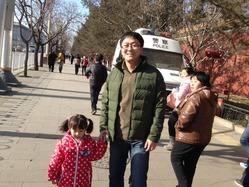 北京子供とお父さん