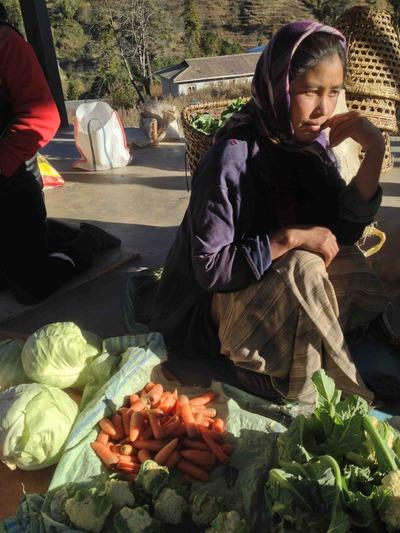 野菜売りの少女