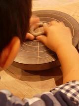 作陶中のjin