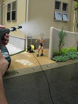 ジェット噴射で水浴び
