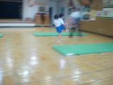 体操教室。あえてブレブレ写真。