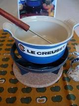 ル・クルーゼチーズフォンデュセットとカボチャの手ぬぐいとハチミツ♪