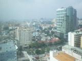 ホテルの部屋から見たホーチミン市