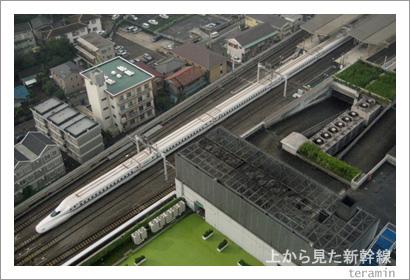 上から見た新幹線 N700系 写真1