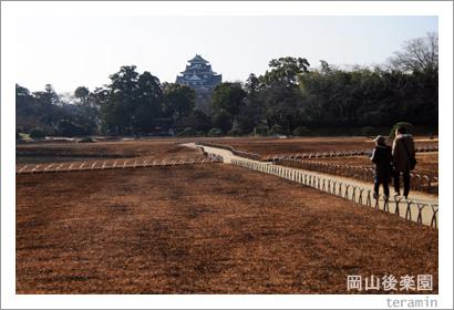 岡山後楽園 芝焼き写真1