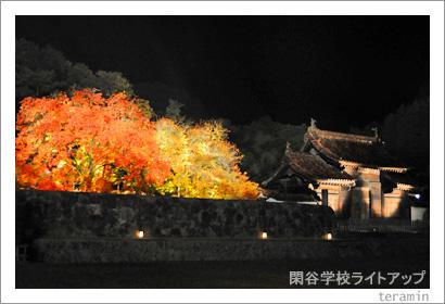 閑谷学校ライトアップ 写真4