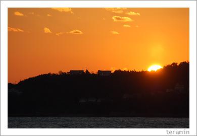 牛窓の夕陽3