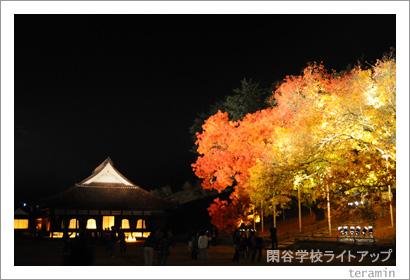 閑谷学校ライトアップ 写真1