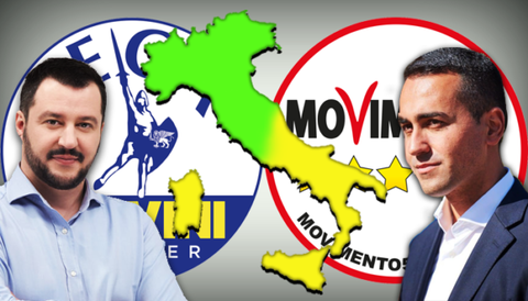 イタリア半島挟んで5星と同盟