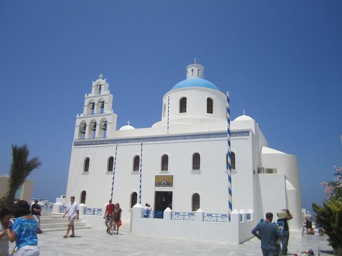 サントリーニ島教会800