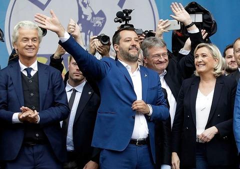 Geert Wilders,Salvini, Jörg Meuthen, Le Pen 600
