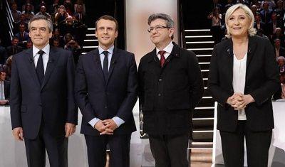 仏選挙4大候補切り取り400pic