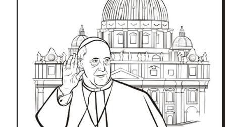 背景教皇ペン画サンピエトロ