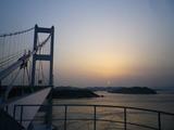夕焼けの来島海峡大橋