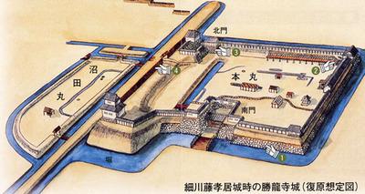 勝龍寺城復元想定図