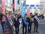大阪天満宮 南森町街頭宣伝20150101