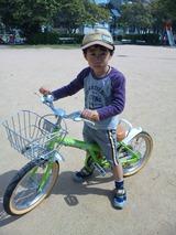 コマなし自転車の練習…暑くてちょっとお疲れです