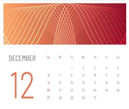 b12月カレンダー