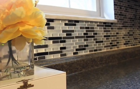 self adhesive wall tile for  kitchen backsplash