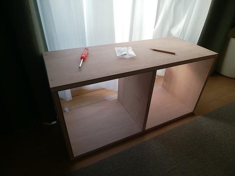 ラワン合板で本棚を自作4
