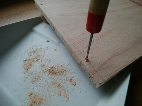 ラワン合板で本棚を自作2