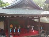 20130831岡崎城ニの丸能楽堂のオカザえもん