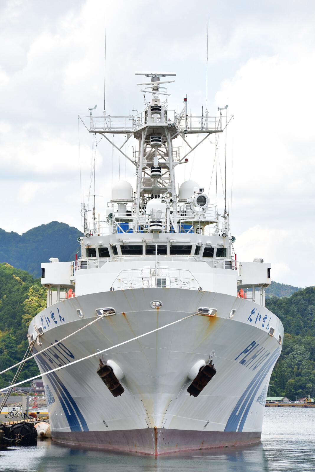 はーくの鉄道日記舞鶴港で並ぶ巡視船「だいせん」「ふそう」コメント                        はーく