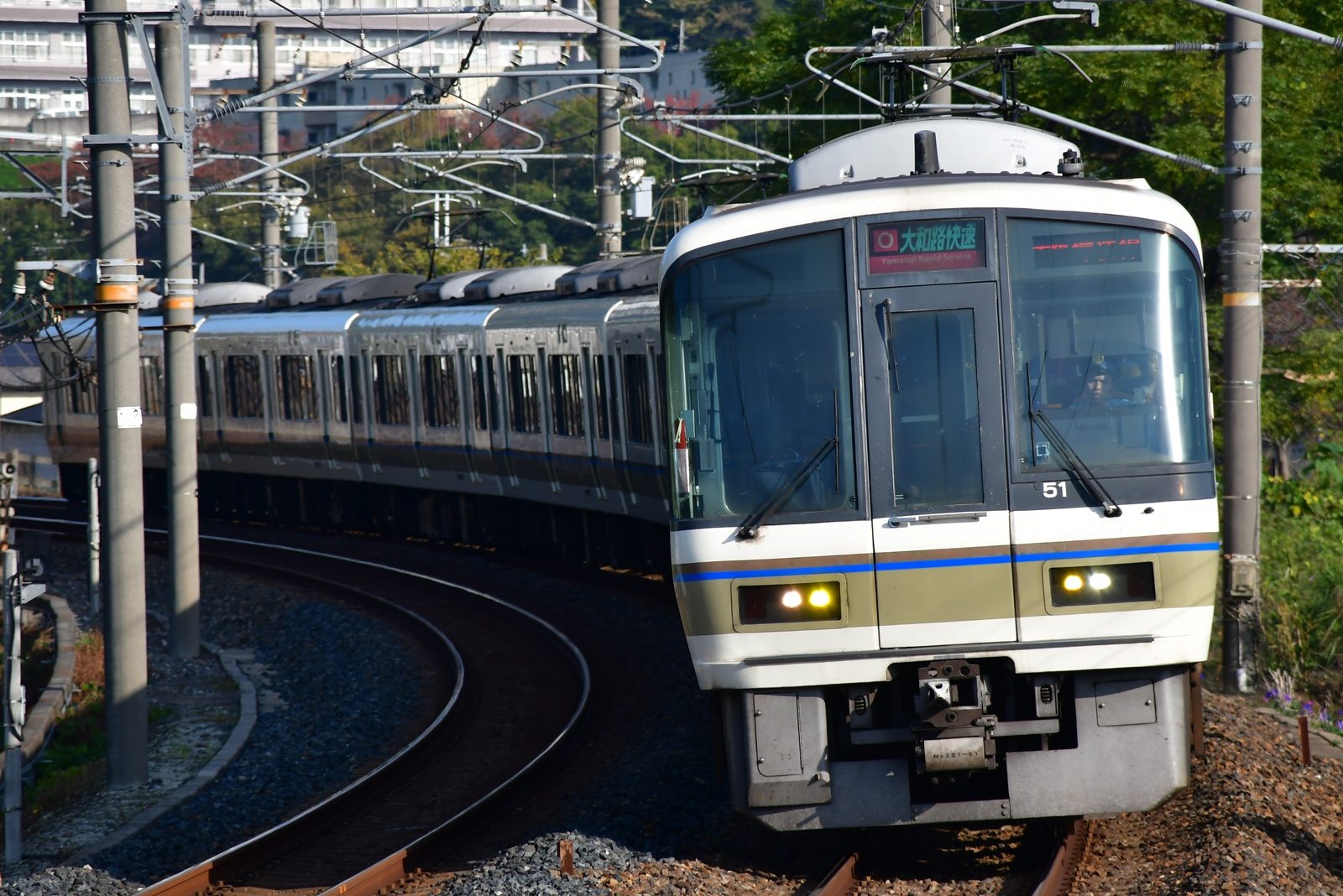 奈良車だけになった幌無しの221系を撮る : はーくの鉄道日記
