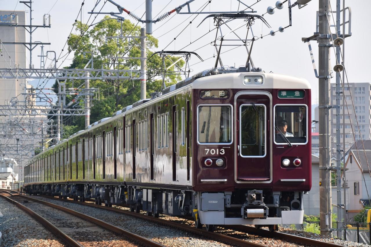 はーくの鉄道日記  阪急今津線の新顔、5010Fと7013Fリニューアル車コメント                Ha‐rk(はーく)