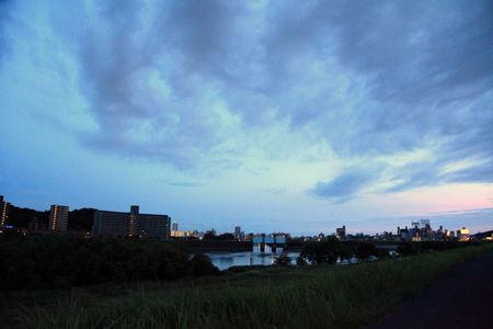 広島の夕暮れ時