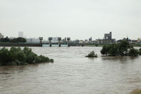 太田川の増水