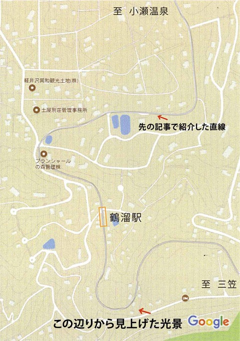 鶴溜付近 tizu-2