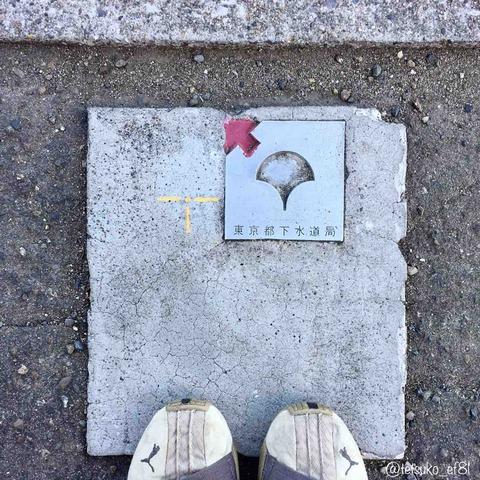 東京都下水道局の巨大境界標
