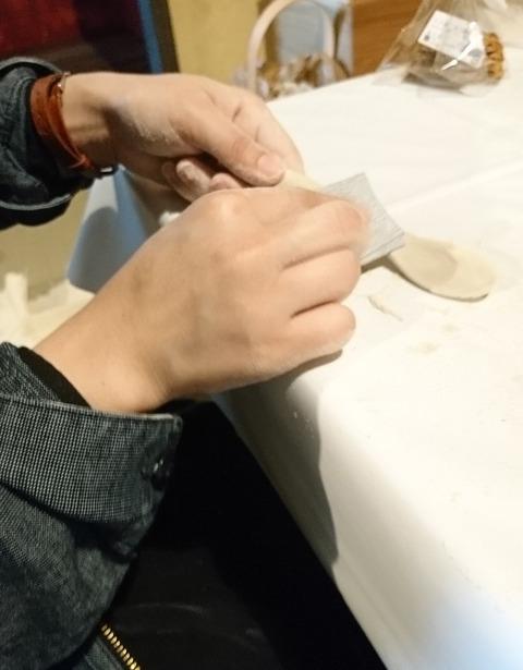 木のスプーン作り