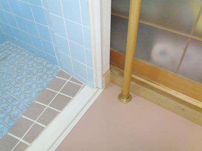 浴室引き戸の床収まり