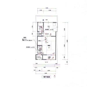 施工前の平面図