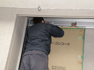 玄関引き戸ドア、スライド調整