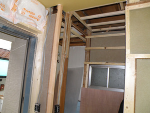 大工工事:階段出入り口