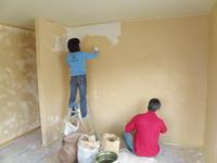 微風塗り施工の2