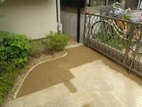 ガレージ、土舗装工事完成(2)