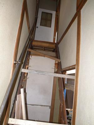 大工工事:階段改修工事
