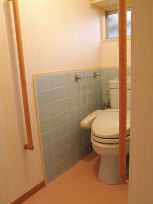 トイレの床段差改修