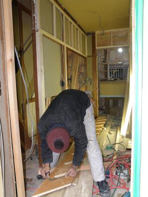 大工工事:階段製作