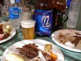 2リットルビールとステーキランチ