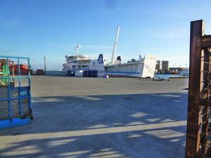 3早朝の港