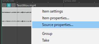 Video Itemを右クリック>Source properties...