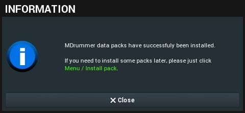 MDrummer Pack Install - Step2 (終了)