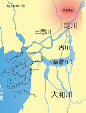 1500年前の河内湖